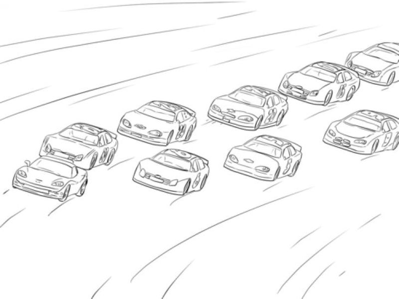 Classic Nascar Coloring Pages Printable
