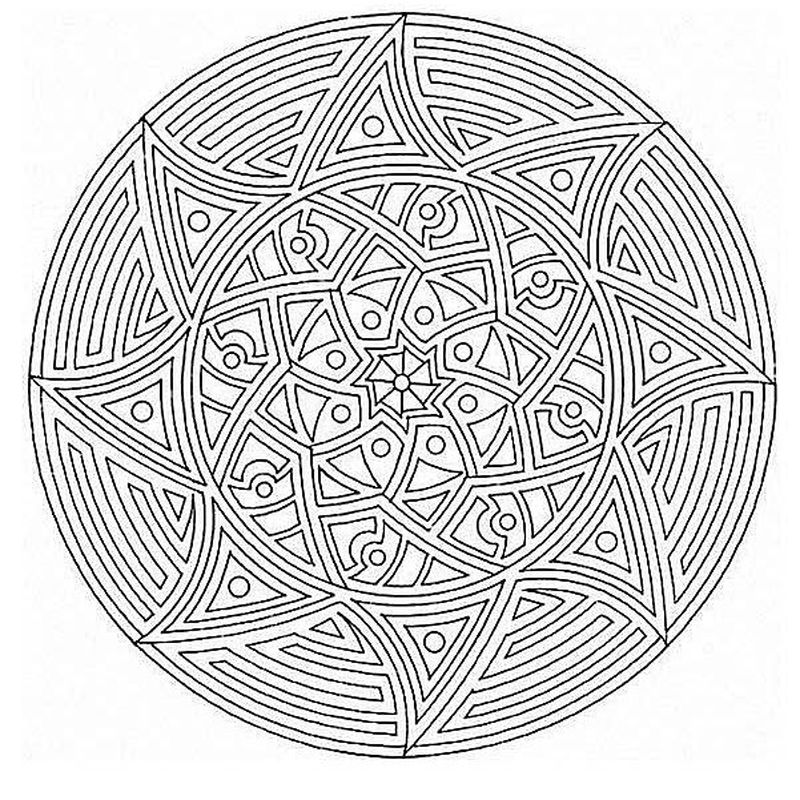 Coloring Mandalas For Kids Printable