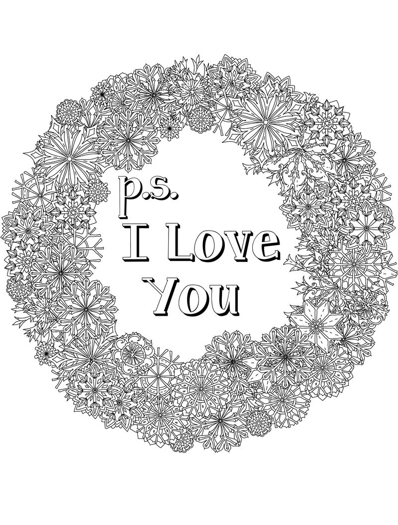 Coloring Pages For Adults Love Printable