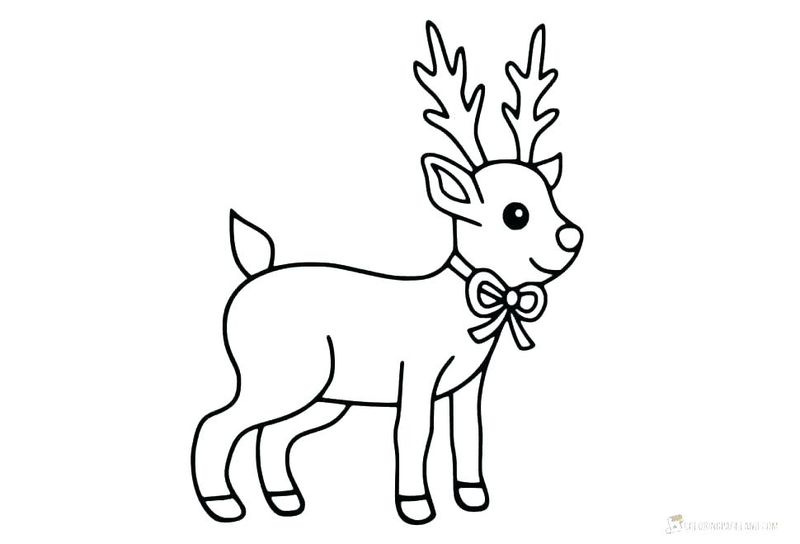 Coloring Pages For Adults Of Christmas Rudolph Print