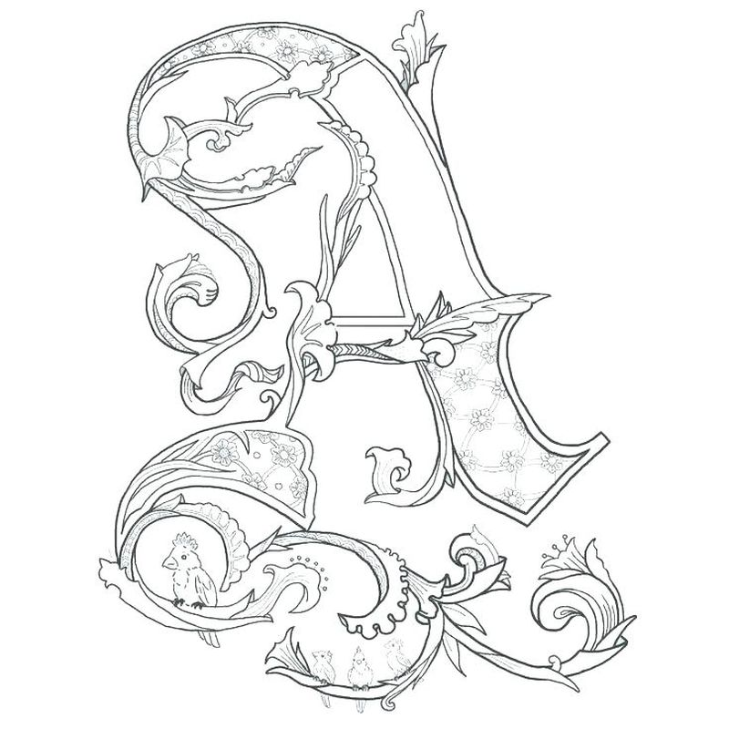 Coloring Pages For Girls Letter A Printable