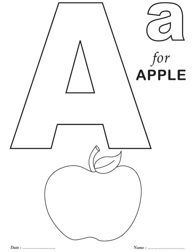 Coloring Pages Letter A Printable