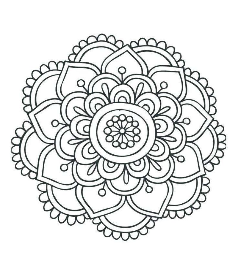Coloring Pages Mandala Printable