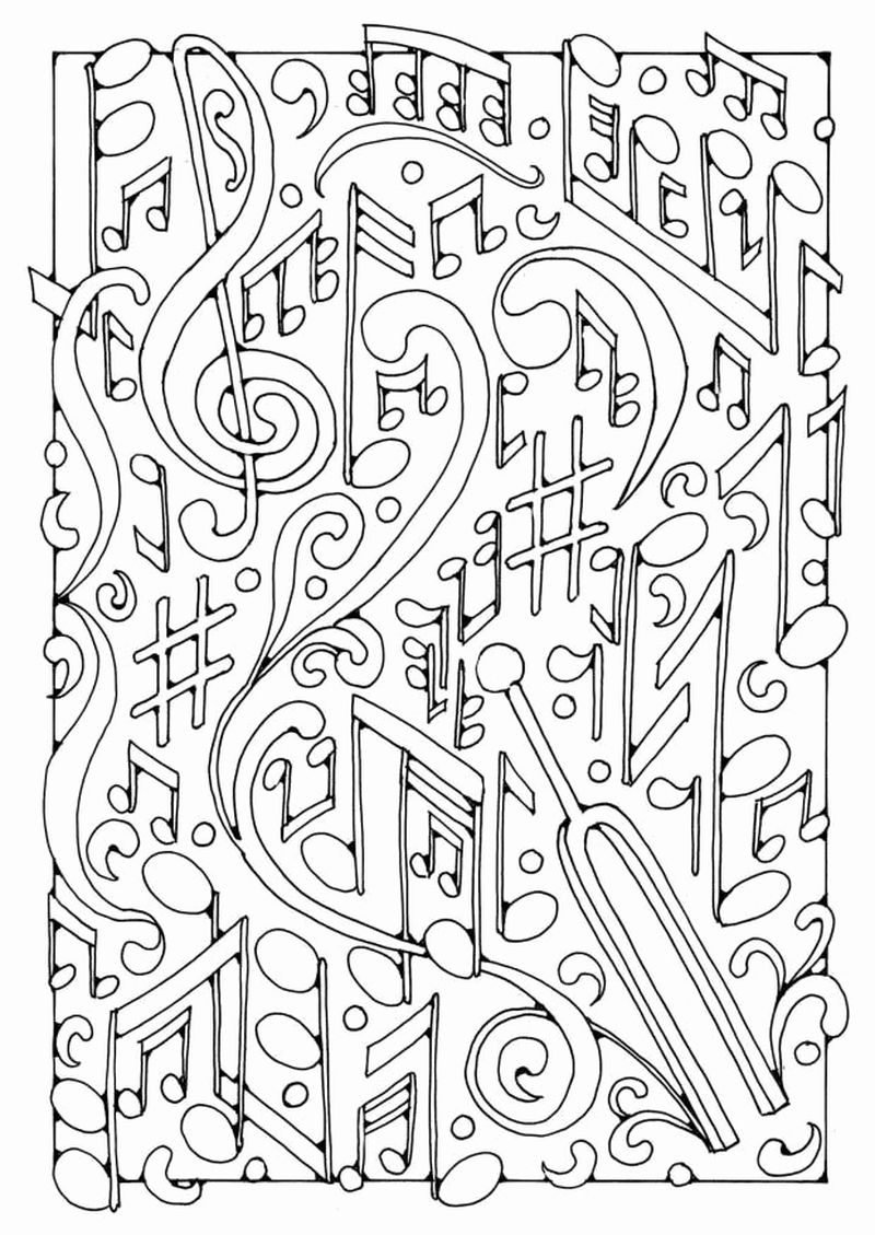Coloring Pages Music Note Pdf