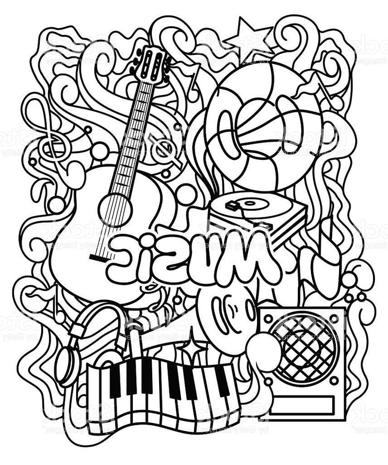 Coloring Pages Music Notes Pdf