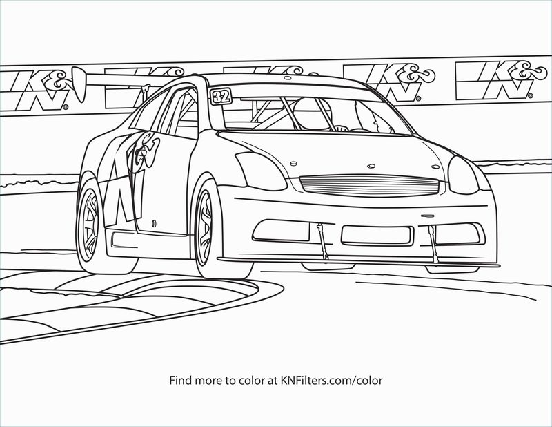 Coloring Pages Nascar Simple Printable