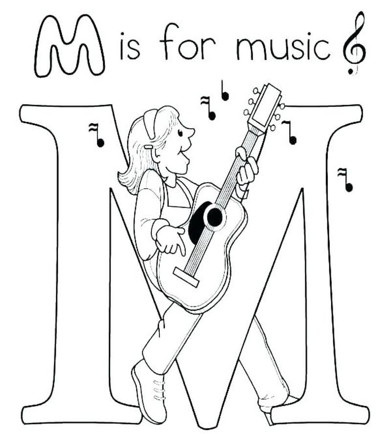 Coloring Pages Of Music Notes Pdf