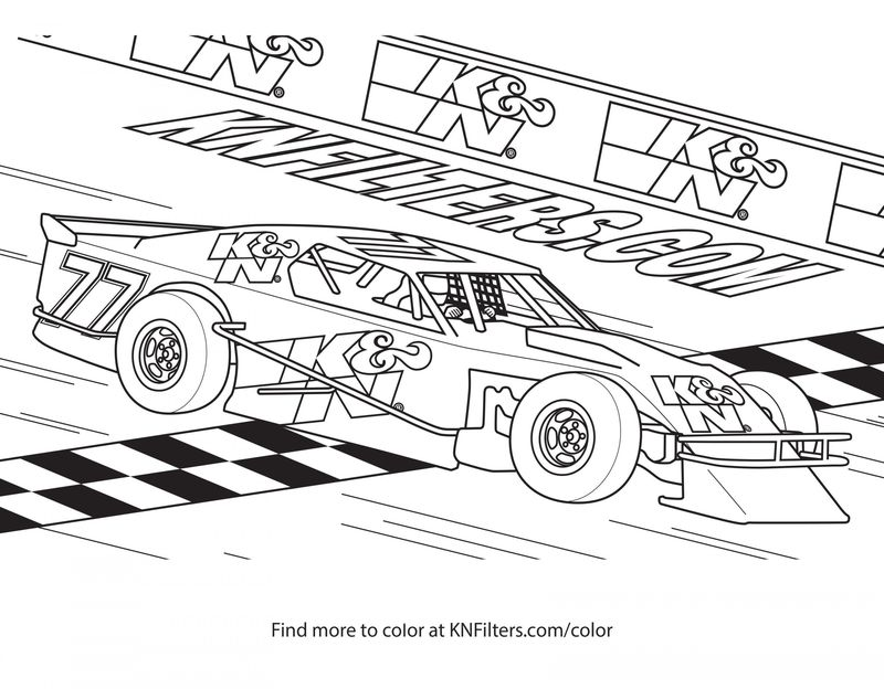 Coloring Pages Of Nascar Printable