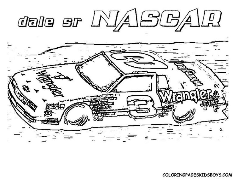 Coloring Pages Of Nascar Race Cars Printable