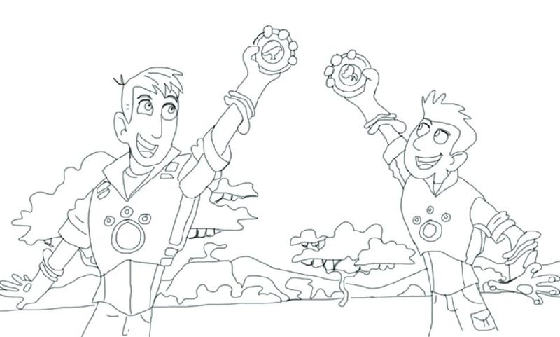 Coloring Pages Of Wild Kratts Printable