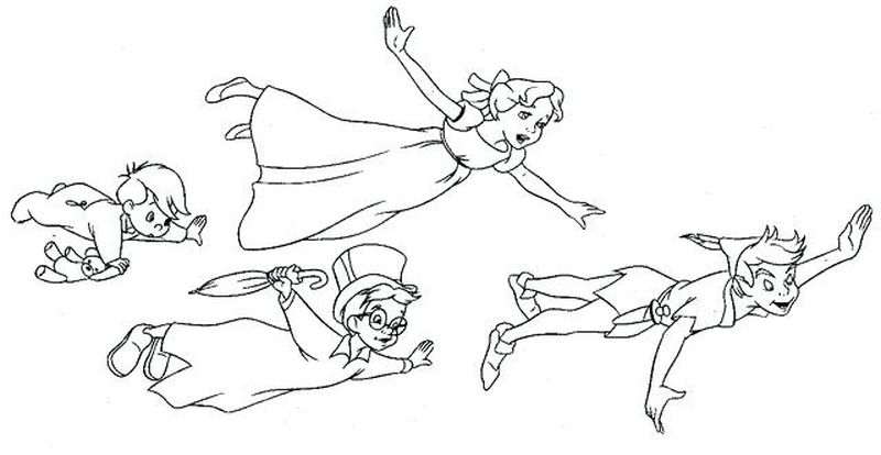 Coloring Pages Peter Pan Print