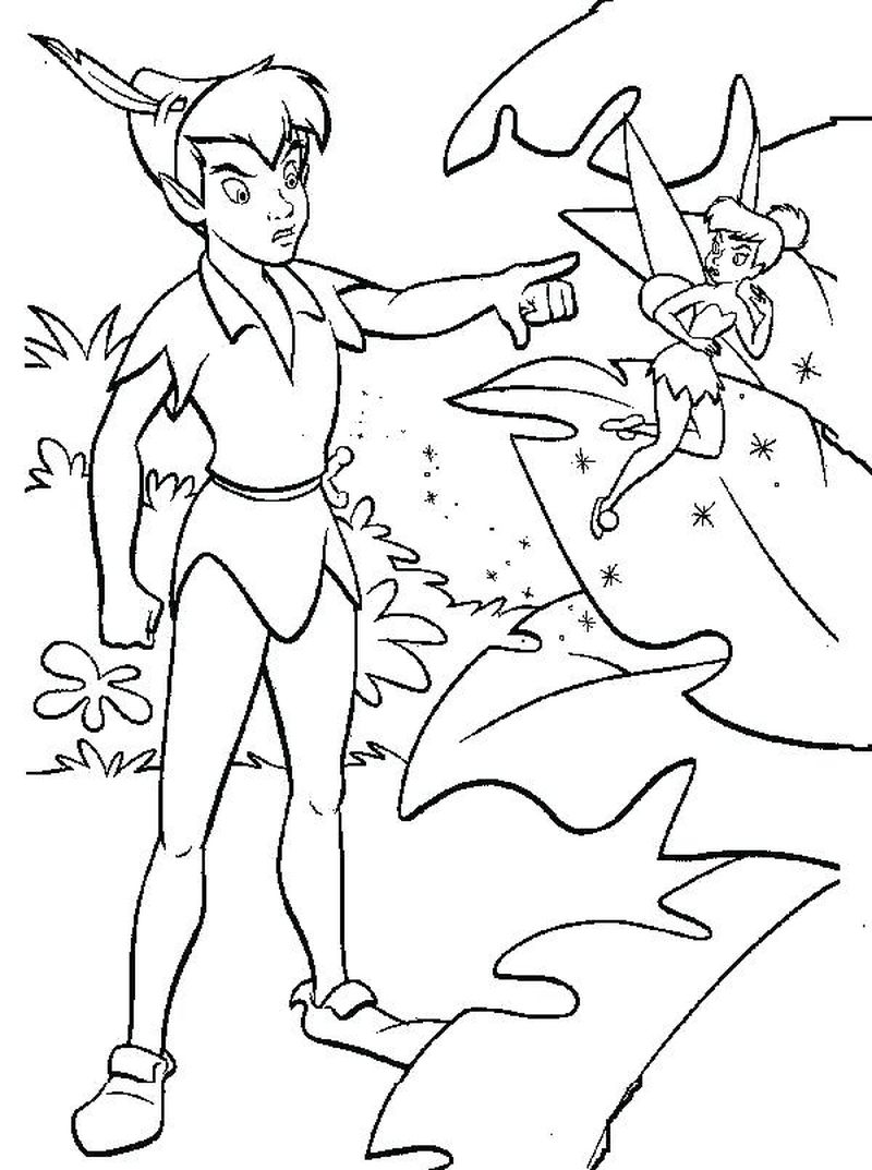 Coloring Pages Peter Pan Printable