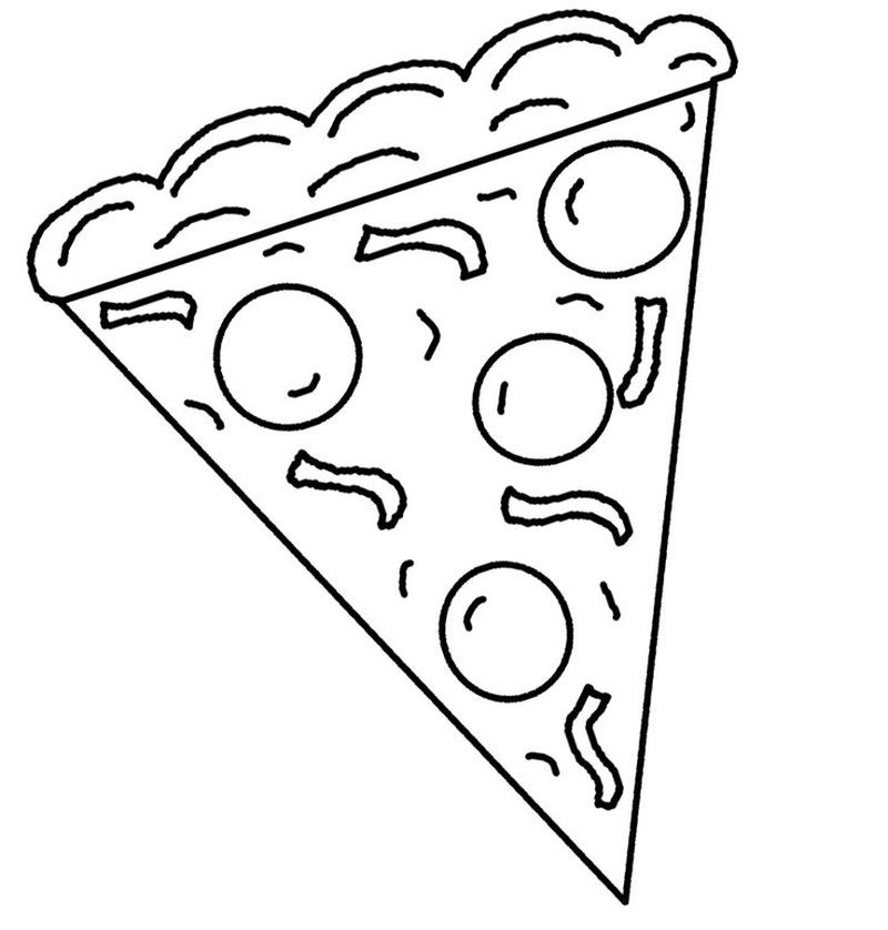 Coloring Pages Pizza Pdf