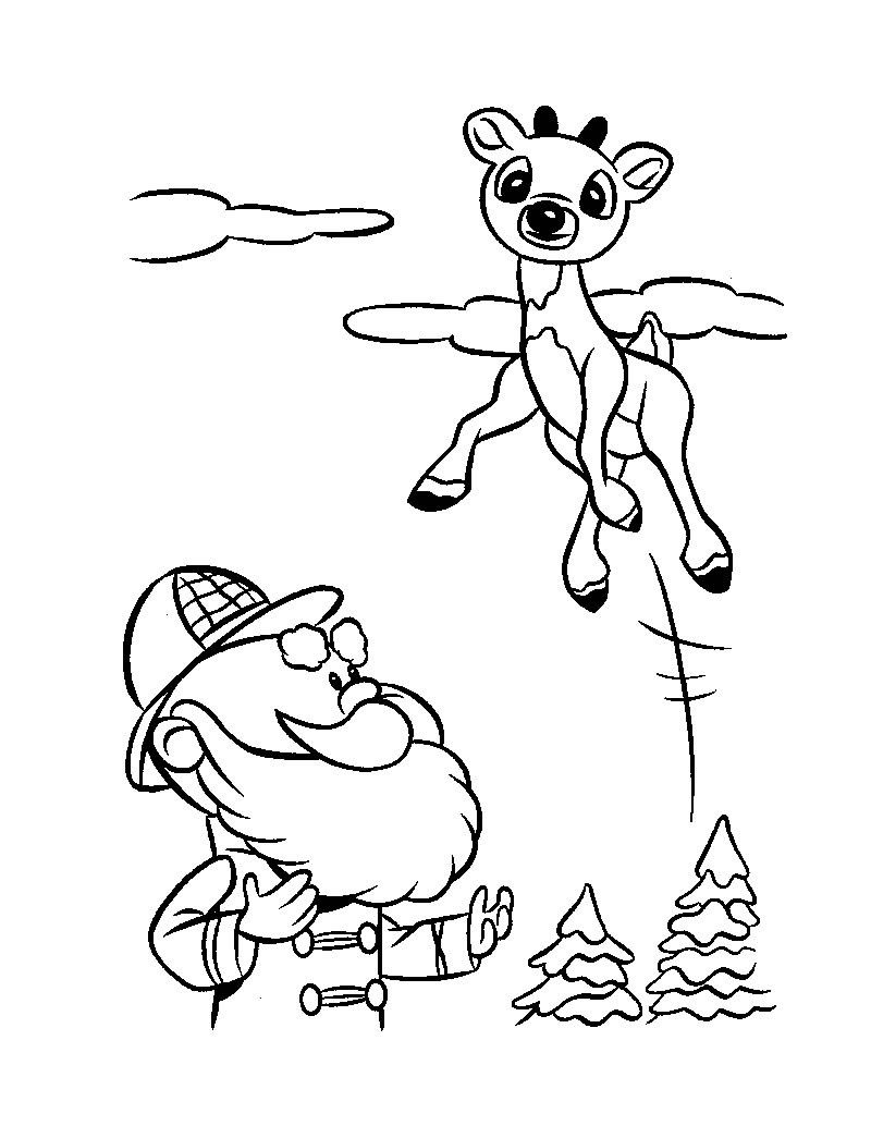 Coloring Pages Rudolph Print