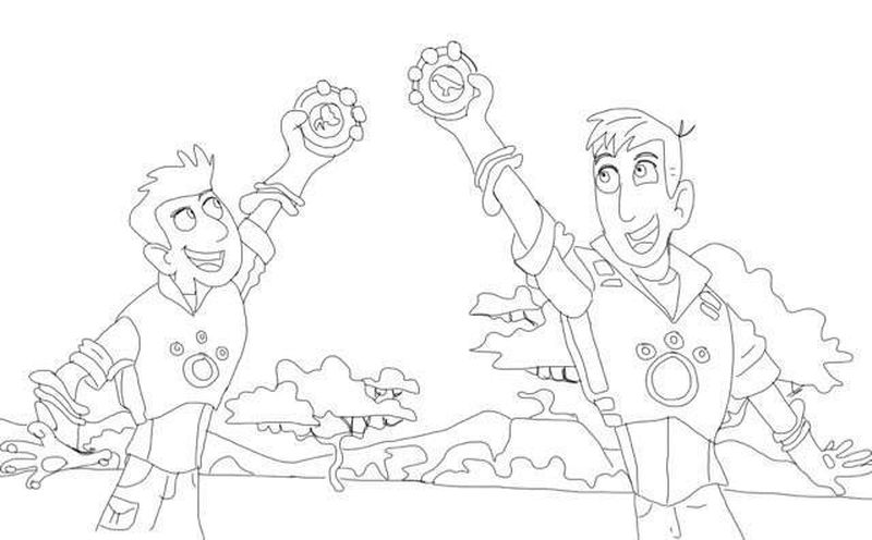 Coloring Pages Wild Kratts As Animal Printable