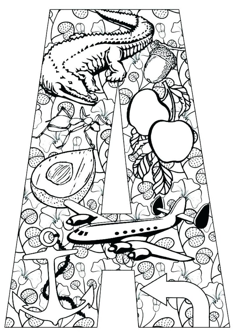Coloring Pages With The Letter A Printable