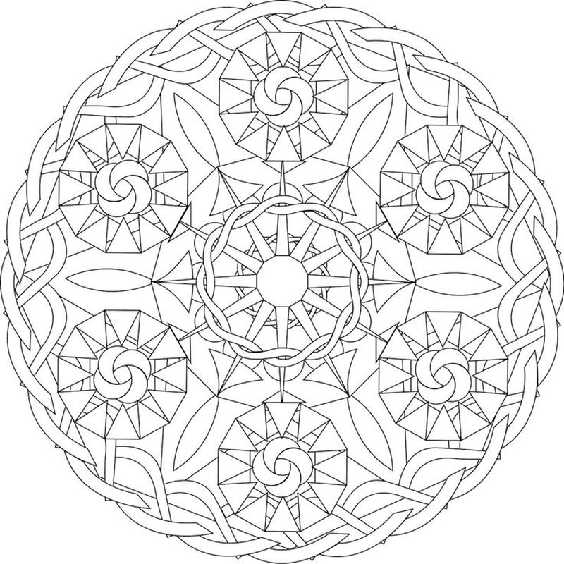 Colouring Mandalas For Kids Printable
