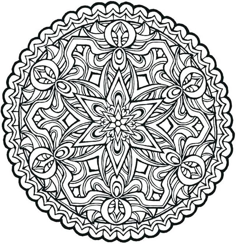 Colouring Mandalas For Kids is Printable
