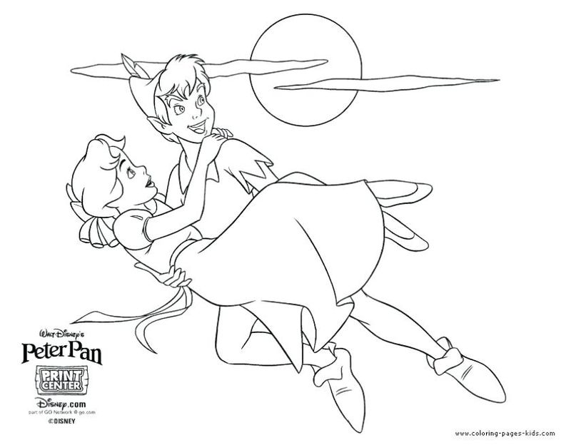 Colring Picturs Peter Pan Print