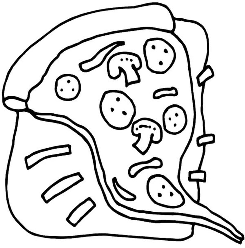 Cool Pizza Coloring Pages Pdf