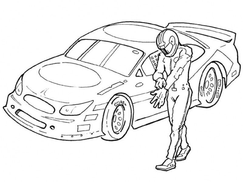 Dale Earnhardt Sr Nascar Coloring Pages Printable