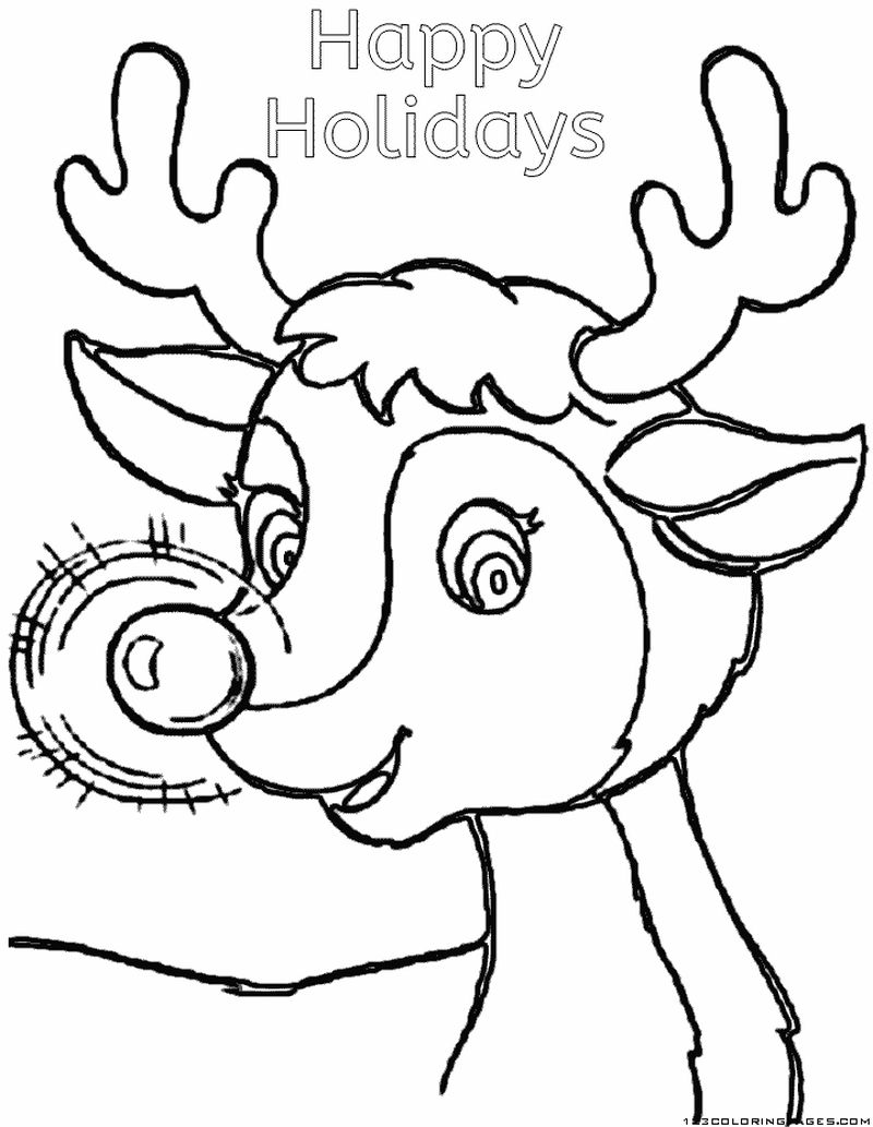 December Holiday Coloring Pages Free