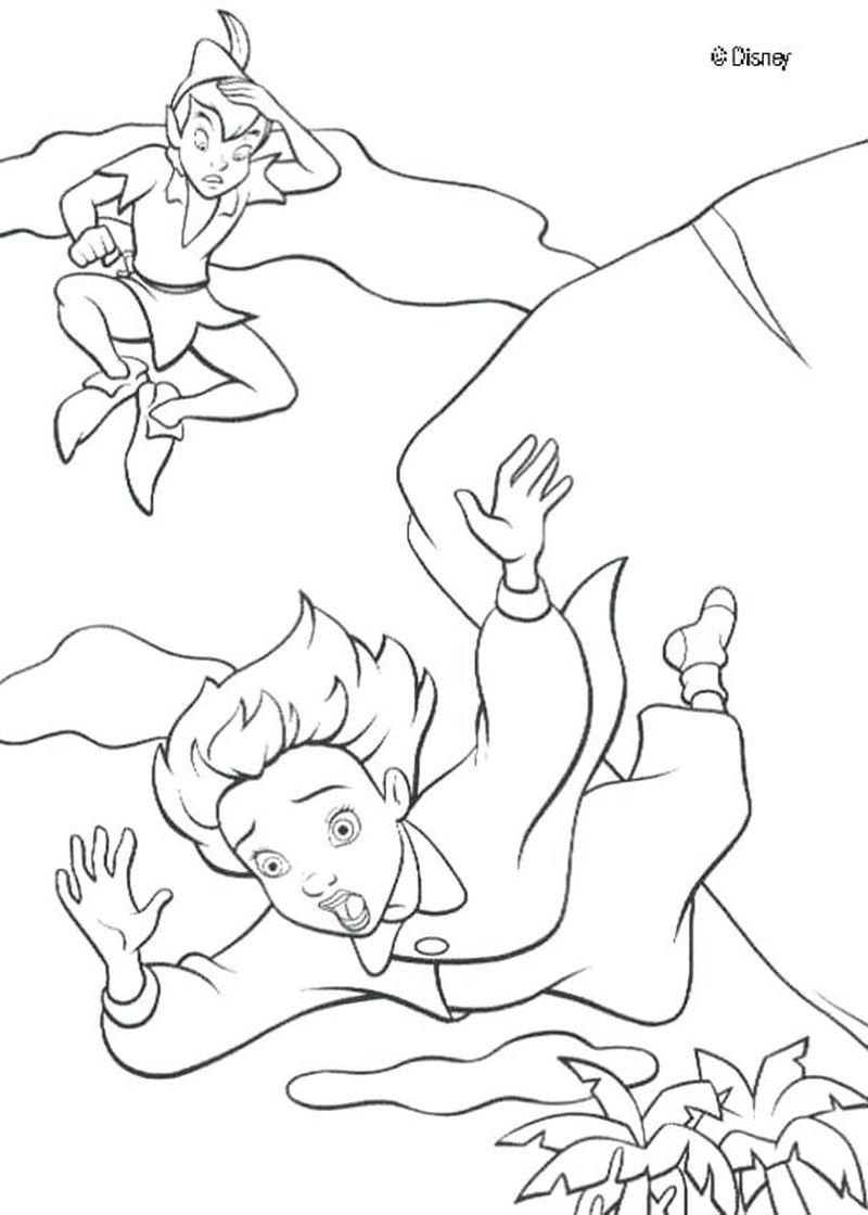 Disney Peter Pan Coloring Pages Print