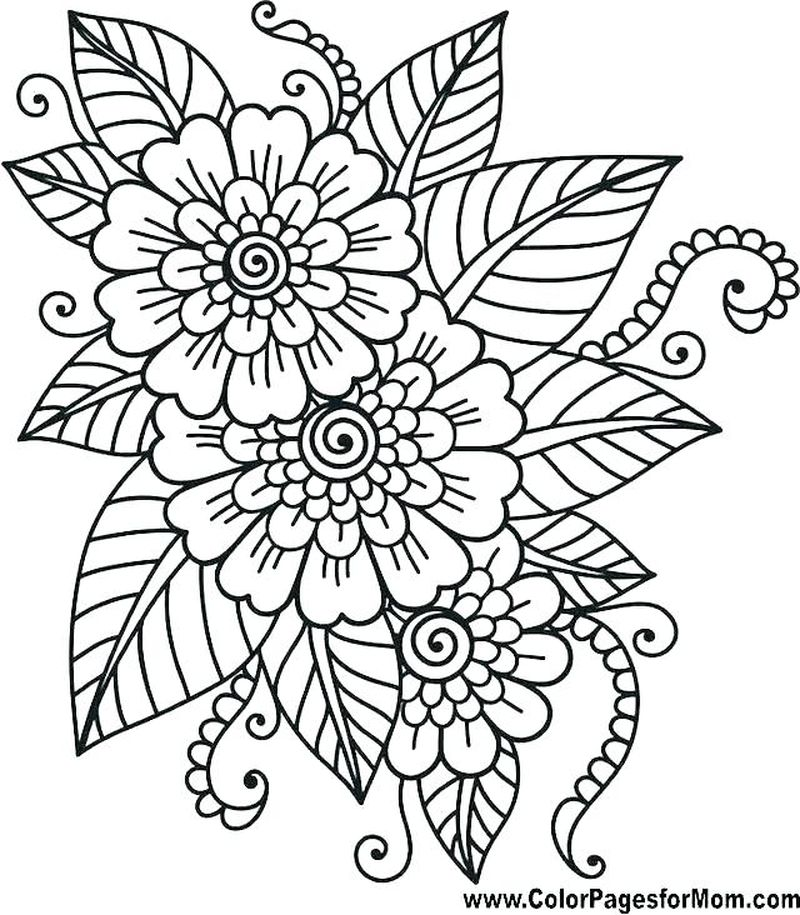 Easy Mandala Coloring Page Printable