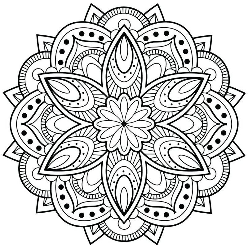 Easy Mandala Coloring Pages Printable