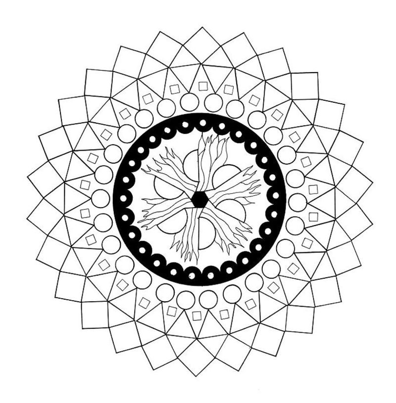 Easy Mandalas To Color Printable