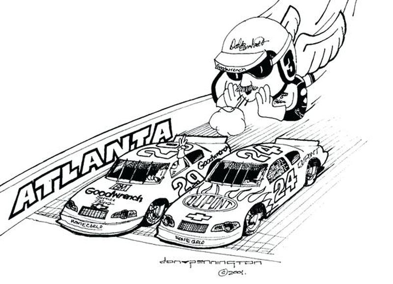 Easy Nascar Coloring Pages Printable