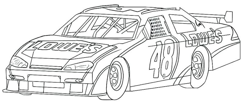 Ford Nascar Coloring Pages Printable