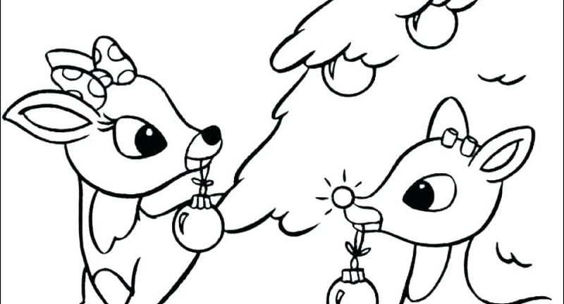 Free Christmas Coloring Pages Rudolph Print