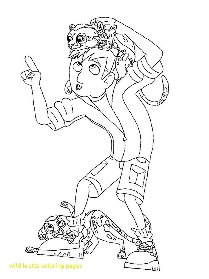 Free Coloring Pages Wild Kratts Printable