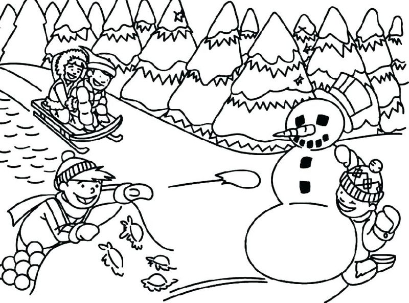 Free Holiday Coloring Pages For Kids Pdf