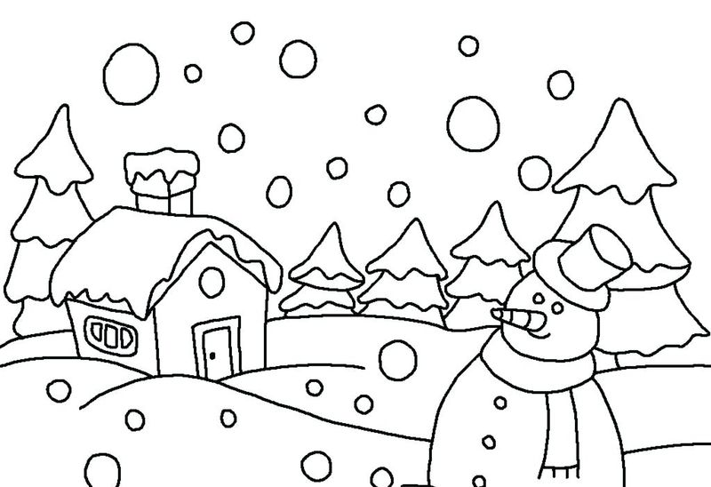 Free Holiday Coloring Pages Free
