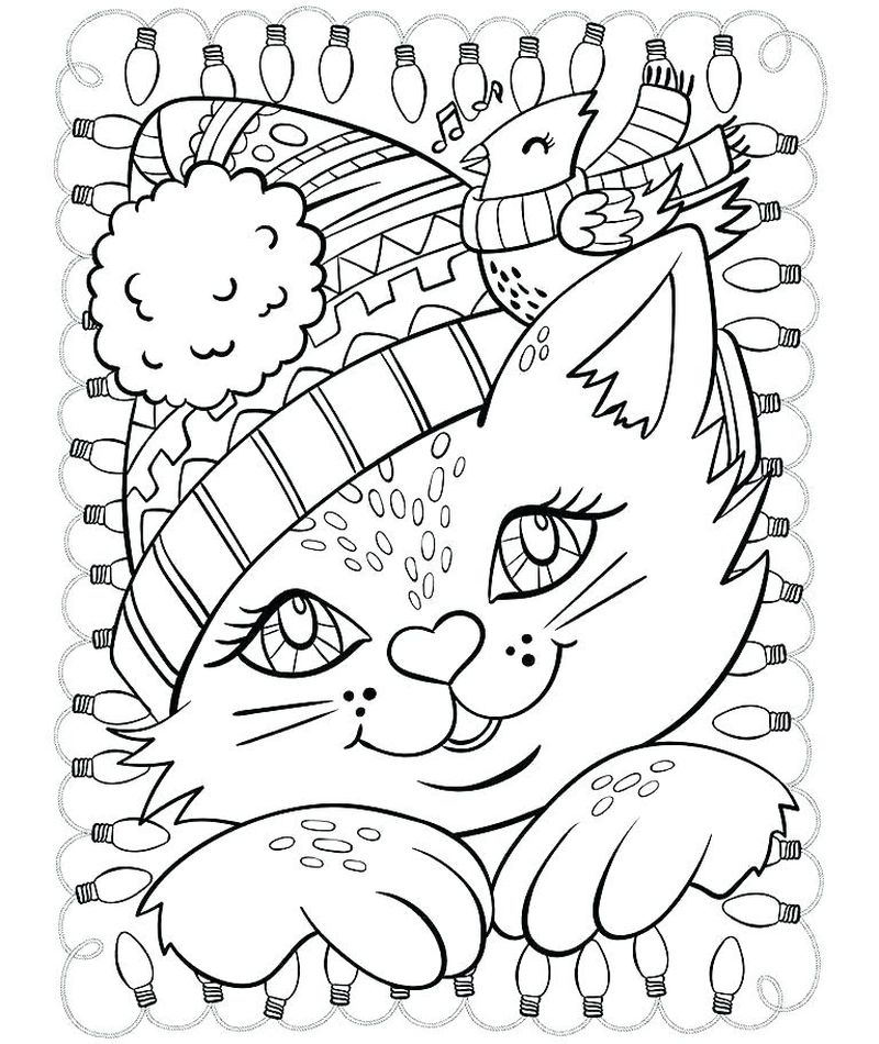 Free Holiday Coloring Pages To Print Free