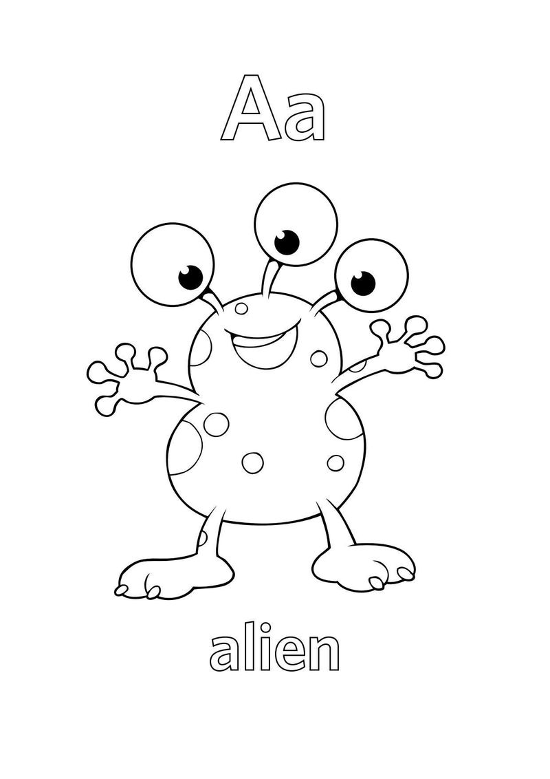 Free Letter A Coloring Pages Printable