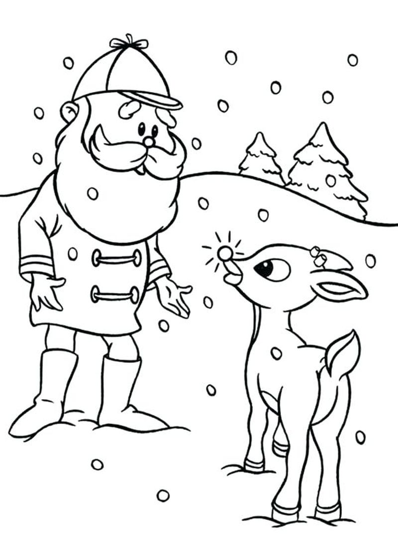 Free Printable Coloring Pages Of Rudolph Print