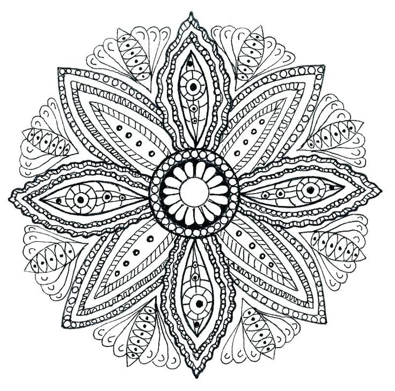 Free Printable Mandala Coloring Book Printable