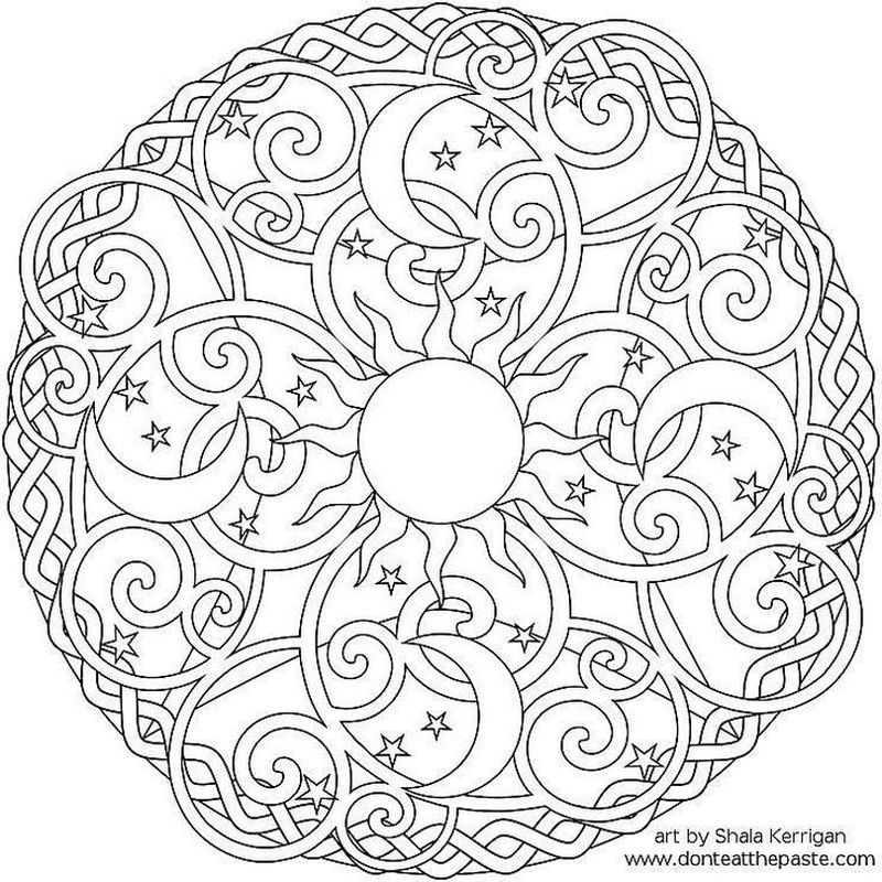 Free Printable Mandala Coloring Pages Printable