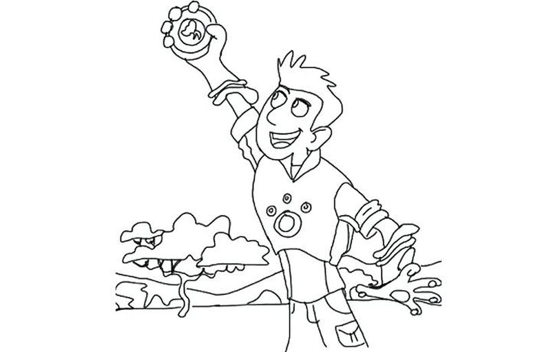 FreeWild Kratts Creature Discs Coloring Pages Printable