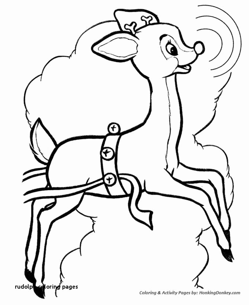 Girl Elf Coloring Pages Rudolph Print