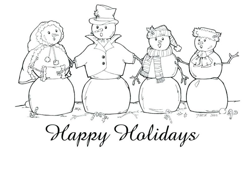 Holiday Coloring Pages For Children pdf