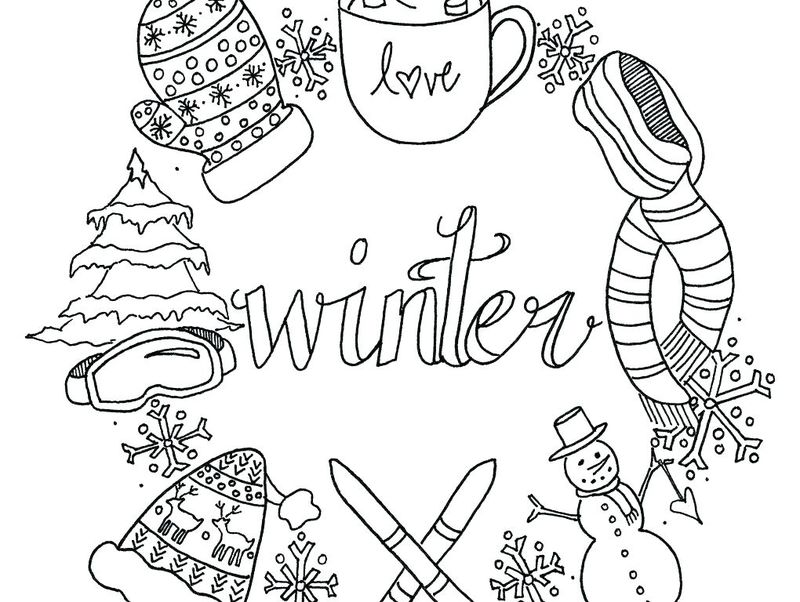 Holiday Coloring Pages Image Pdf
