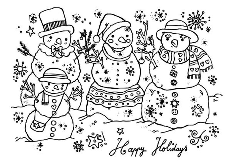 Holiday Coloring Pages Printable Christmas pdf