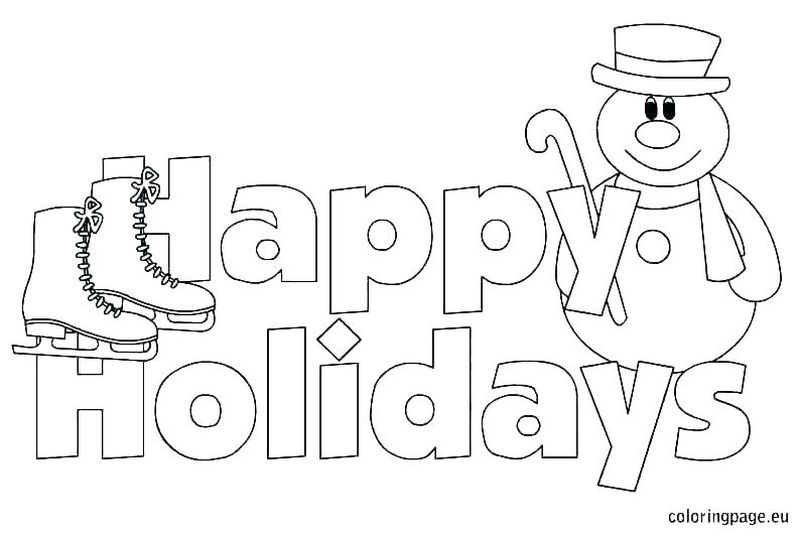 Holiday Coloring Pages To Print Free