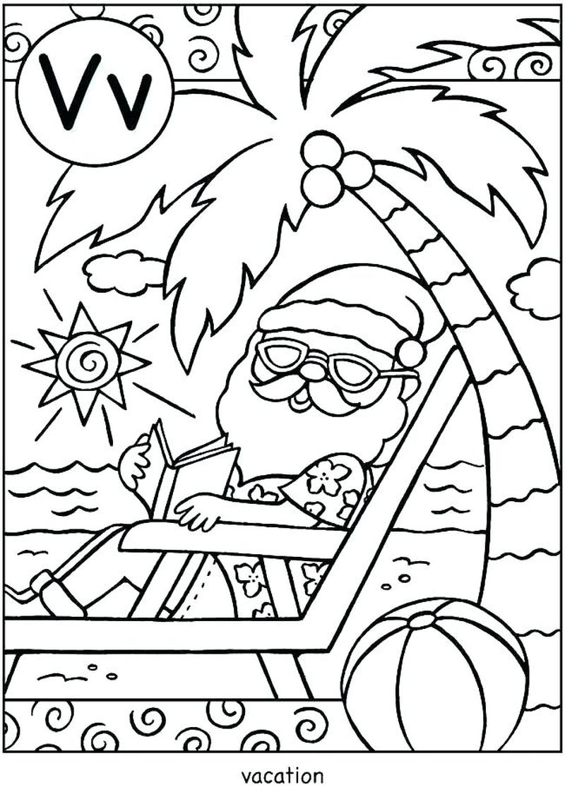 Holiday Kids Coloring Pages Free