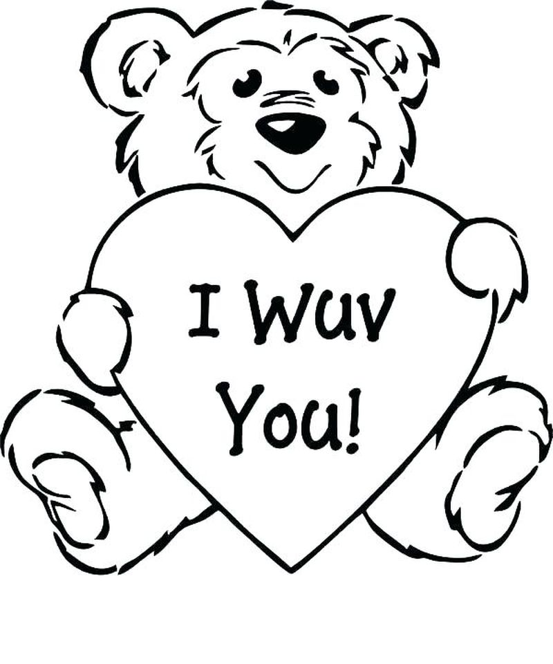 I Love My Teacher Coloring Pages Printable