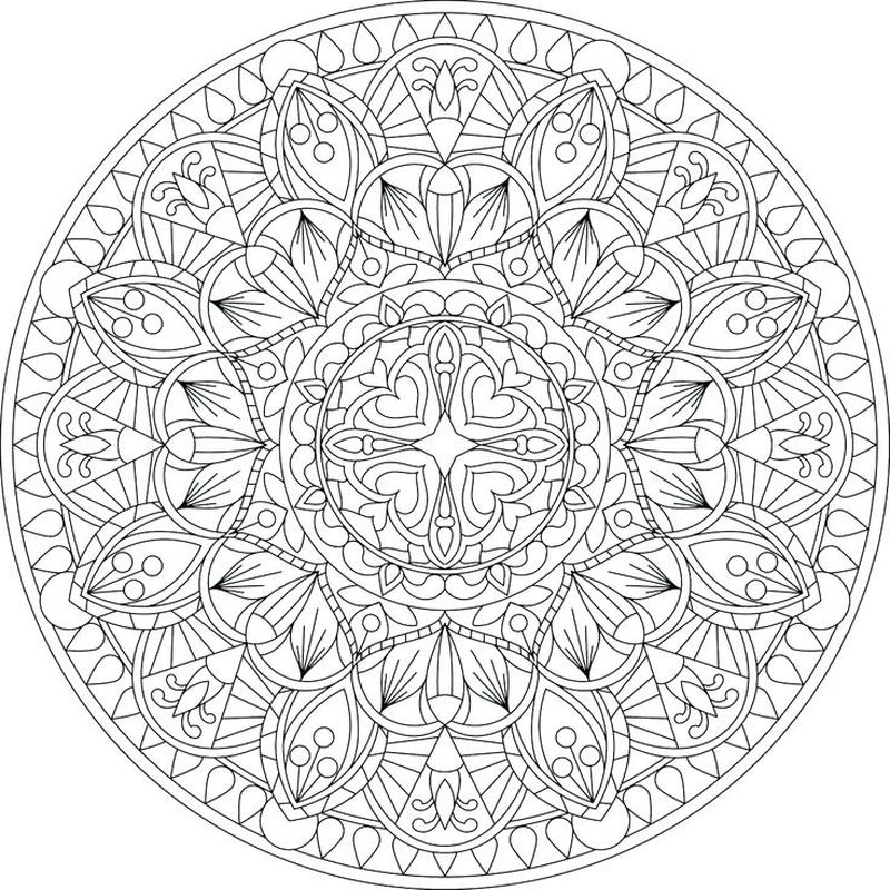 Kid Mandala Coloring Page Printable